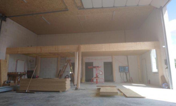 Installation d'un mezzanine en bois à Sury