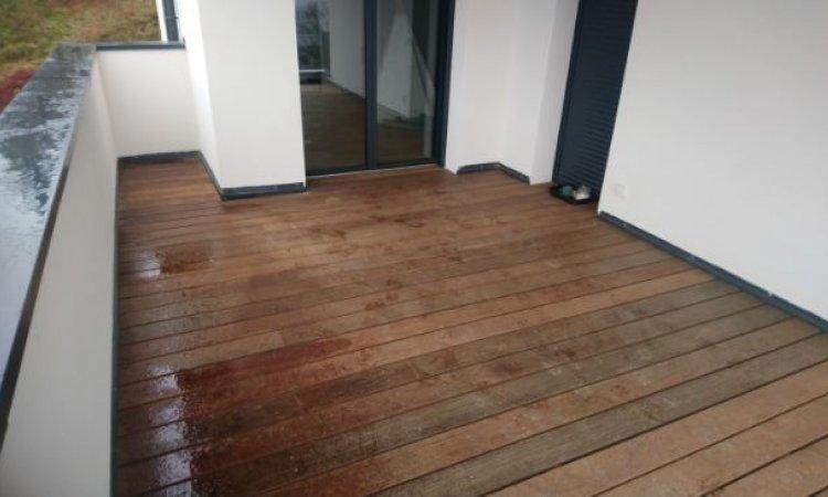 Installation de terrasse rubière