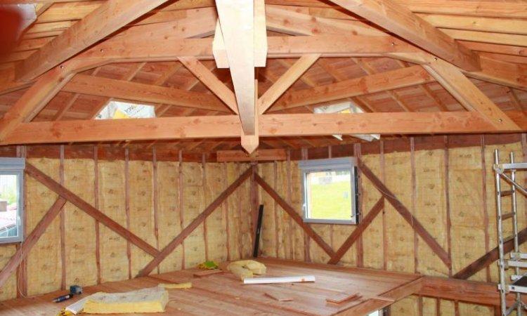 Construction de maison avec ossature bois à Bonson
